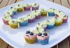 Pull-Apart Caterpillar Birthday Cake from Simplicious