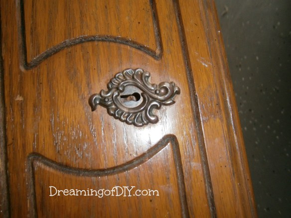 keyhole and drawer detail