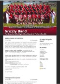 I built the Grizzly Band website in 2010 using Weebly.