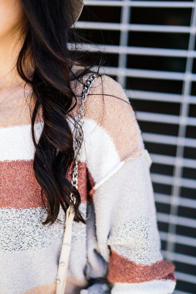 cropped sweater & high-rise denim