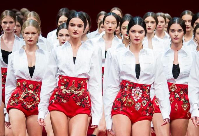 Dolce and Gabbana Spring 2015 RTW Collection at Milan Fashion Week - finale