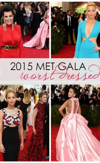 Red Carpet: 10 Worst Dressed at the 2015 Met Gala