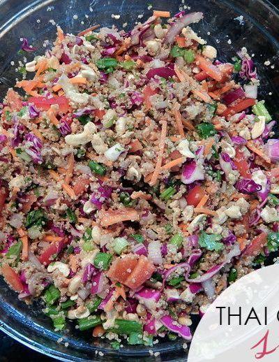 Recipe: Crunchy Cashew Quinoa Thai Salad