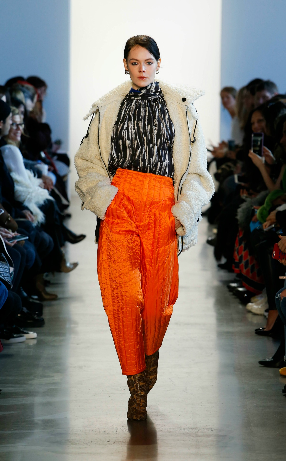 COLOVOS Fall 2018 Runway at NYFW I Faux Fur Jacket and Silk Top #NYFW #WinterFashion