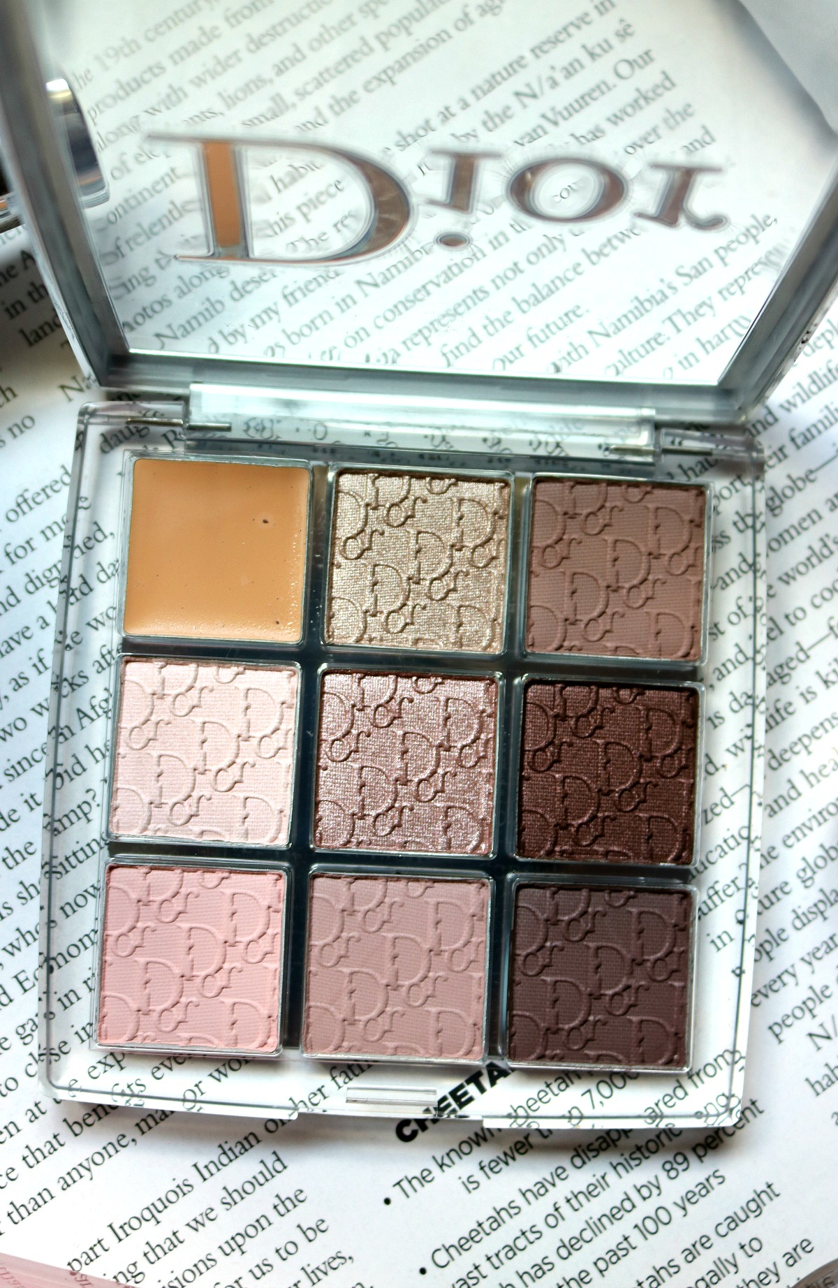Dior Backstage Collection Eyeshadow Palette Review (Cool Tone) I DreaminLace.com #Dior #DiorMakeup #LuxuryMakeup