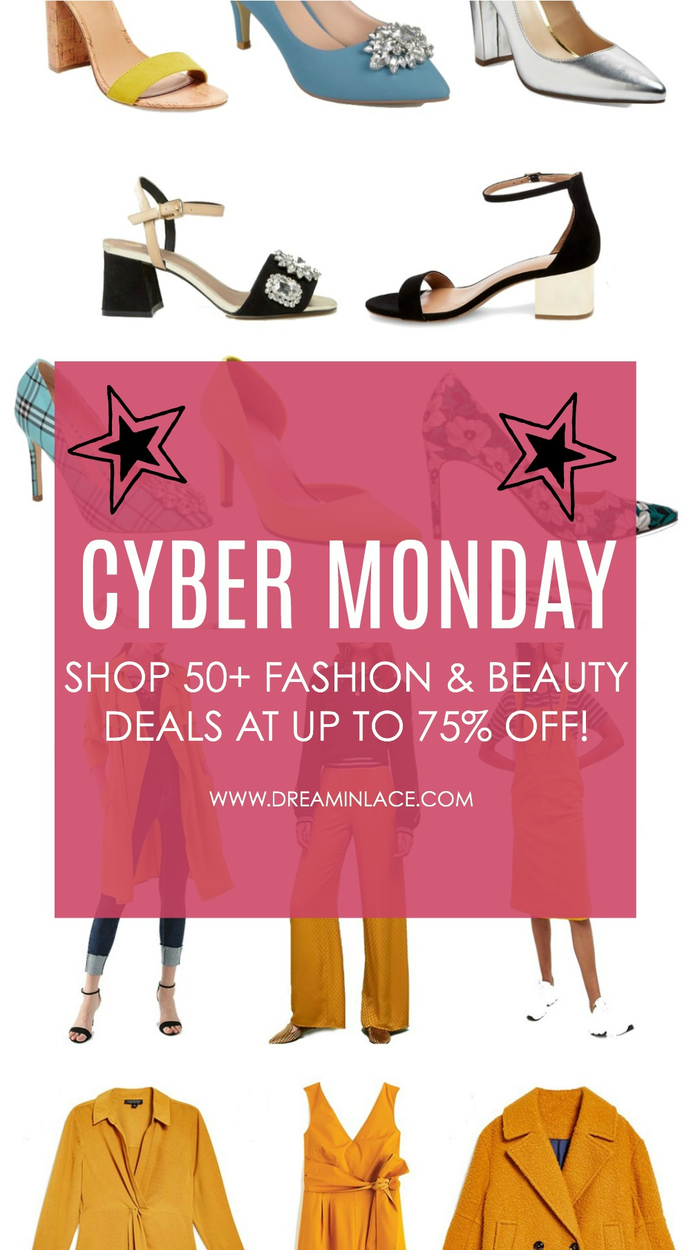 2018 Cyber Monday Sale Round-Up I Shop more than 50 of the best fashion and beauty sales with up to 75% off! #CyberMonday #HolidayShopping #GiftIdeas #CyberWeek