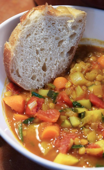 Comforting Spiced Vegetable Lentil Soup Recipe