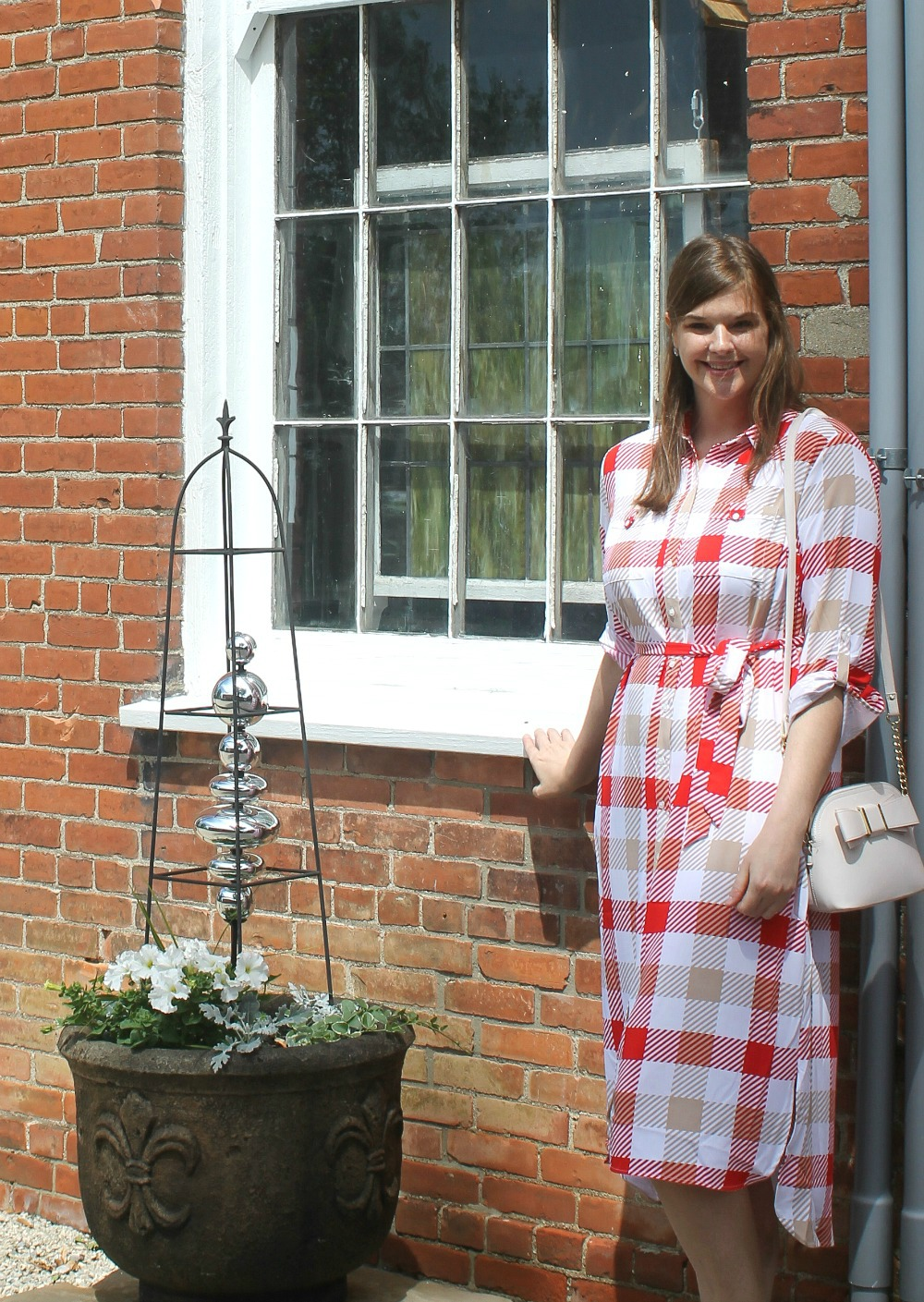 511d2041a1a4 Picnic Dresses for Summer 2019 I Red Plaid Shirtdress from New York and  Company #SummerStyle