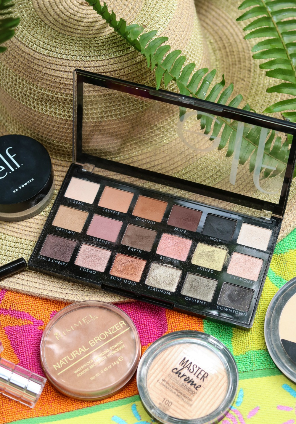 Summer Drugstore Makeup Tutorial I ELF New Classics Eyeshadow Palette #summermakeup #makeuptutorial #beautyblogger #makeup