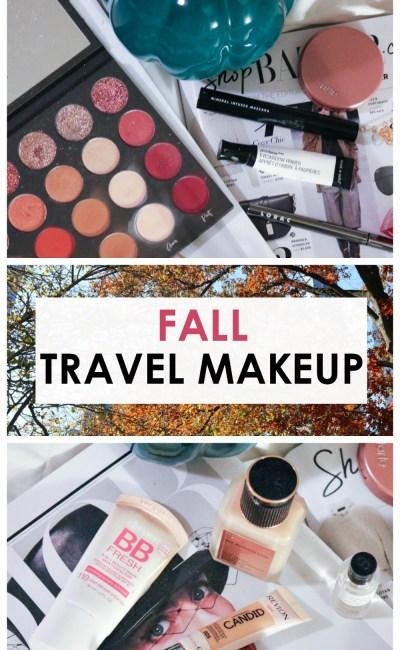 Go Inside My Fall Travel Makeup Bag