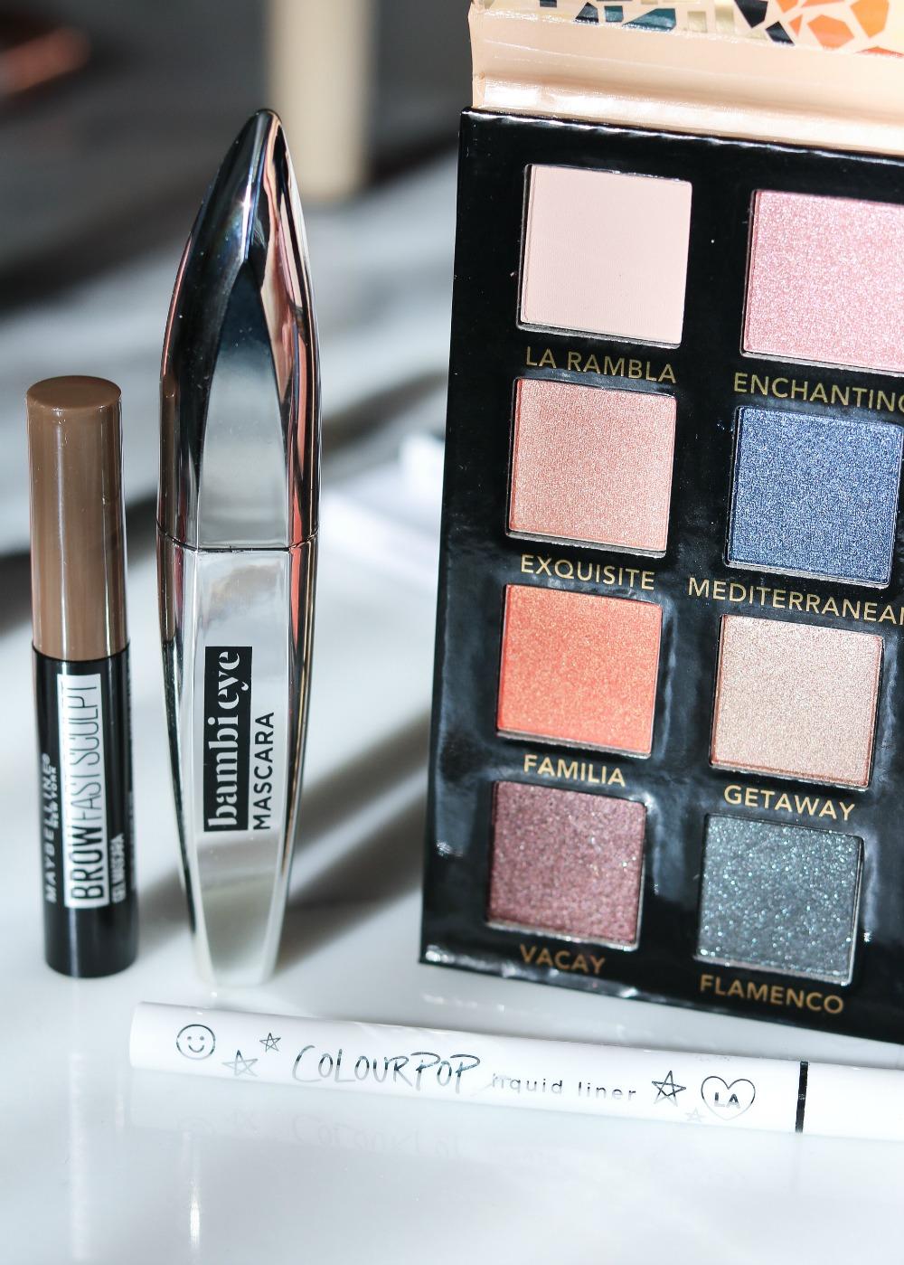 New Drugstore Makeup Products Testing I Maybelline Brow Gel, Loreal Bambi Mascara, Colourpop Liquid Eyeliner