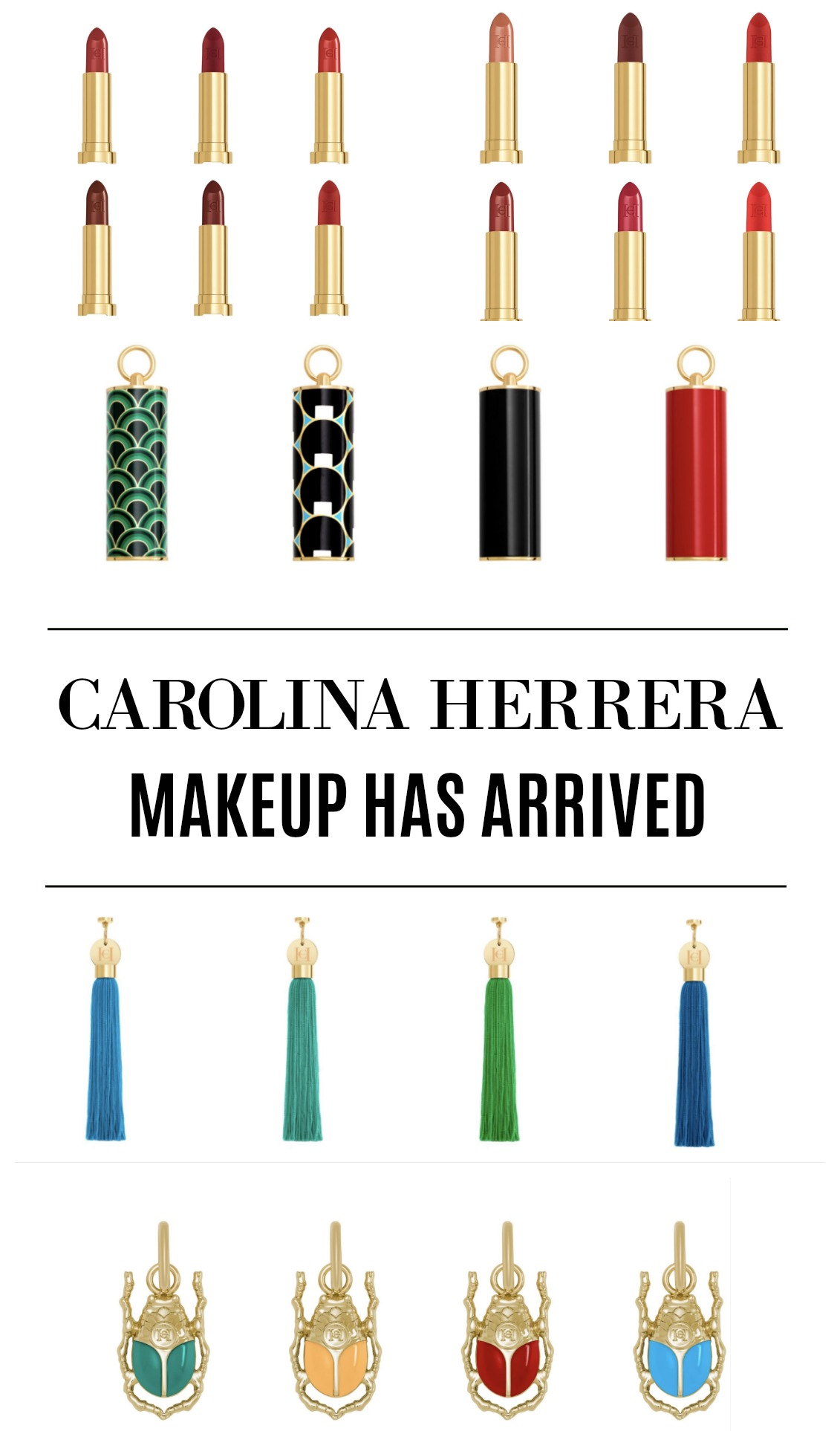 Carolina Herrera Makeup Launches with Luxury Lipsticks I Dreaminlace.com