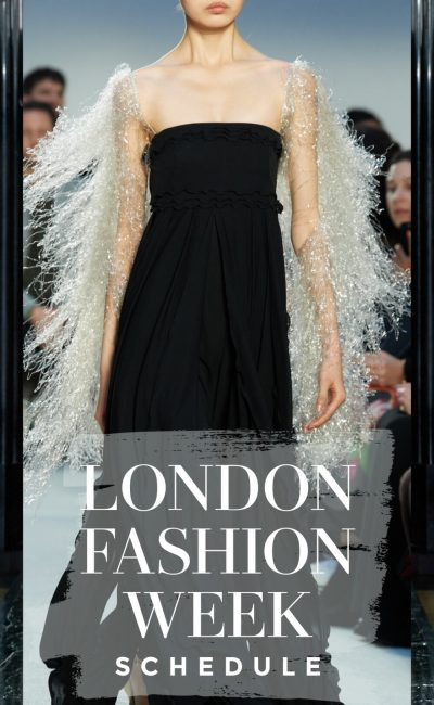 Here's Your Official London Fashion Week Schedule!