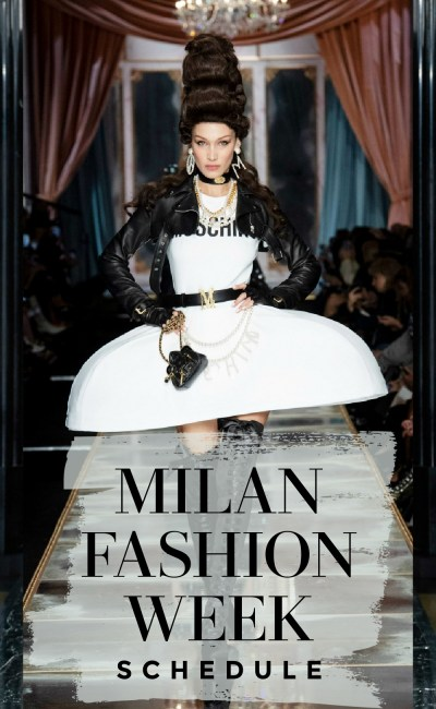 The Official Milan Fashion Week Schedule is (Virtually) Jam-Packed!