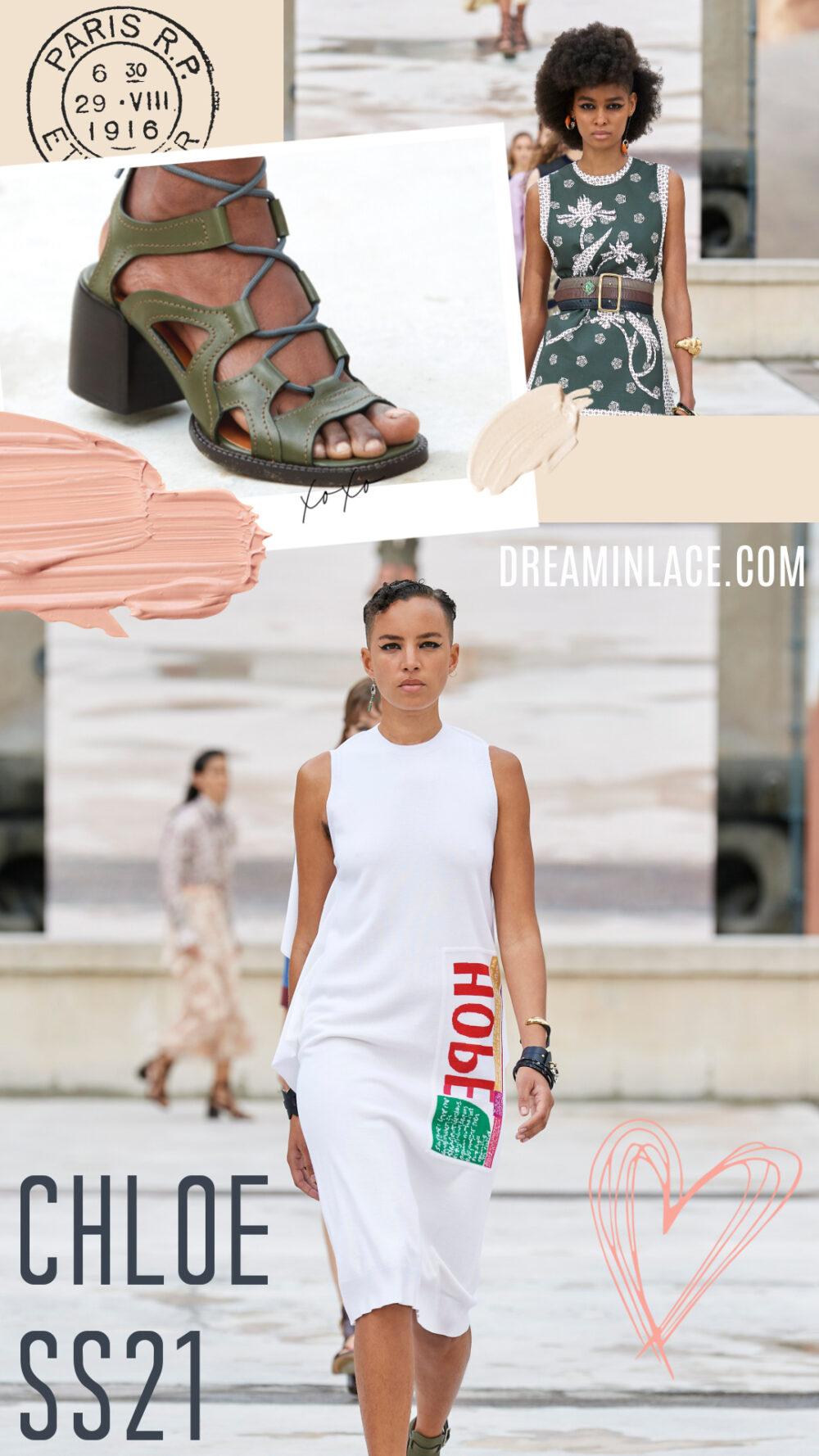Chloe Spring 2021 Collection Runway at Paris Fashion Week I Dreaminlace.com #ParisFashionWeek #SS21 #Womenswear