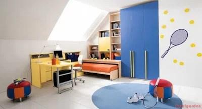 Havalı çocuk yatak odası tasarım fikirleri