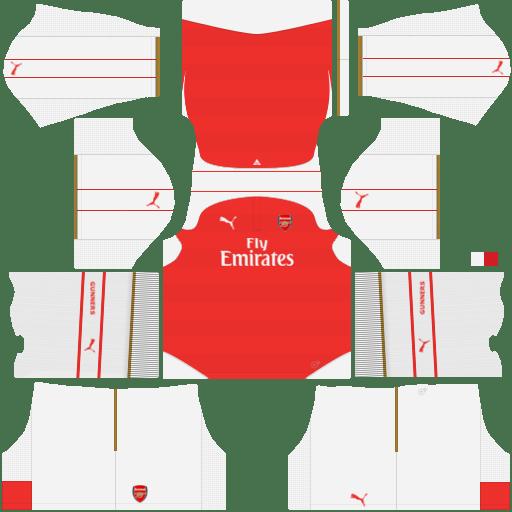 kit Arsenal DLS 20 uniforme casa 14-15
