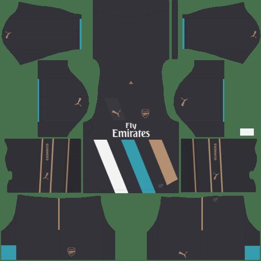 kit Arsenal dls17 uniforme alternativo 14-15