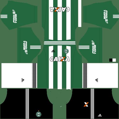 kit coritiba dls17 uniforme fora de casa