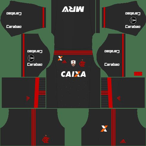 kit flamengo dls17 uniforme libertadores alternativo
