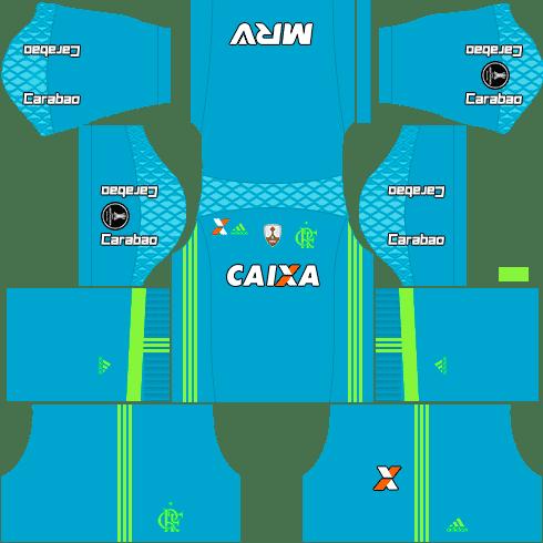 kit flamengo dls17 uniforme libertadores goleiro casa