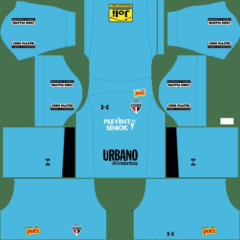 kit são paulo dls17 uniforme goleiro fora de casa 16-17