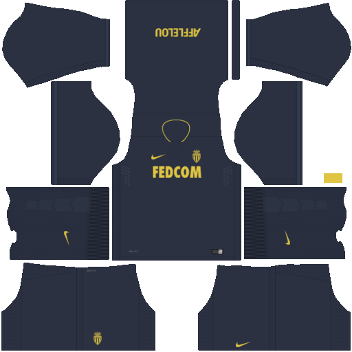 kit Monaco DLS 20 uniforme fora de casa