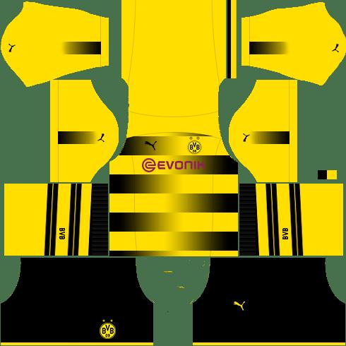 kit borussia dls17 uniforme casa 17-18