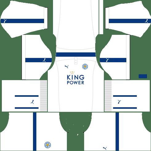 kit leicester dls17 uniforme alternativo