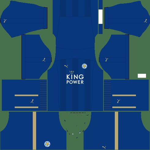 kit leicester dls17 uniforme casa