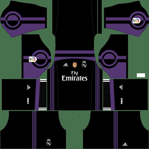 kit real madrid dls17 uniforme alternativo 16-17