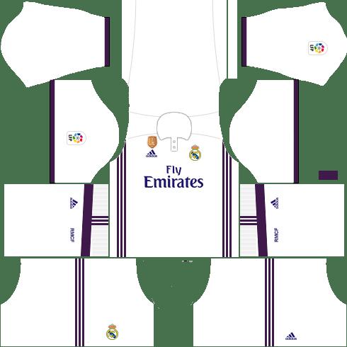 kit real madrid dls17 uniforme casa 16-17