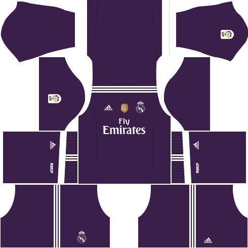 kit real madrid dls17 uniforme fora de casa 16-17