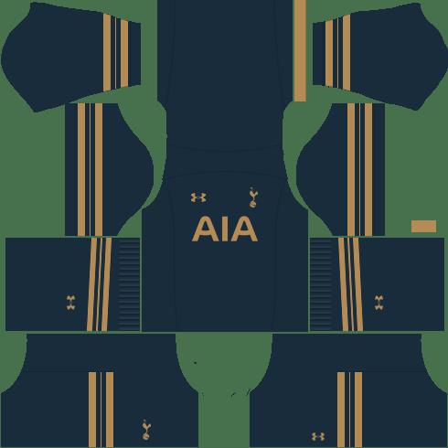 kit tottenham dls17 uniforme fora de casa
