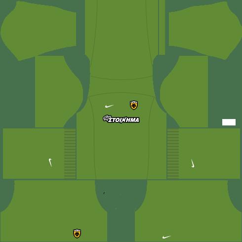 kit aek dls16 uniforme goleiro fora de casa15-16