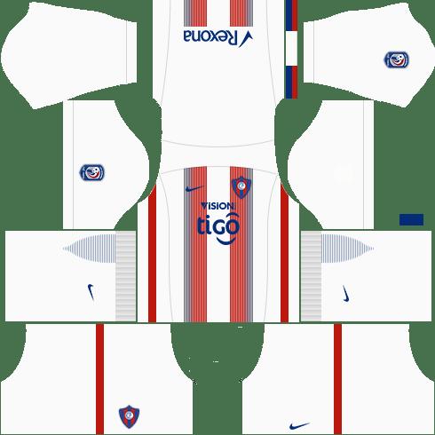 Kit cerro porteño dls17 uniforme fora de casa
