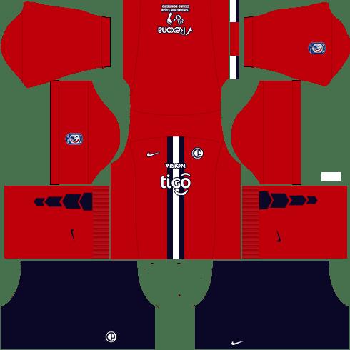 Kit dls17 cerro porteño uniforme casa 15-16