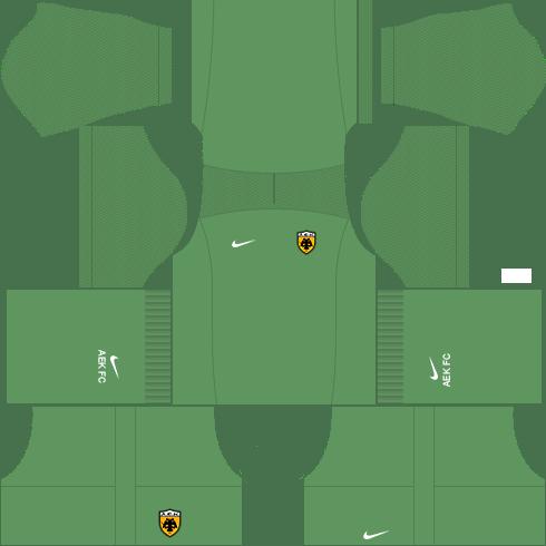 Kit AEK dls17 away GK - uniforme goleiro fora de casa 17-18