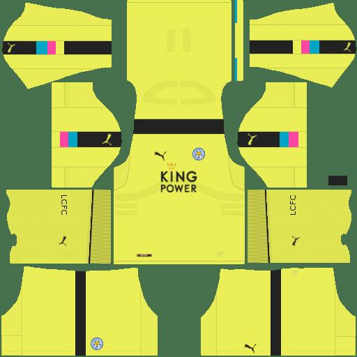 Kit Leicester City dls17 away Gk - uniforme goleiro fora de casa