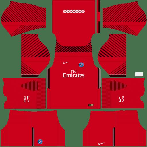 Kit PSG dls18 away Gk - uniforme goleiro fora de casa 17-18