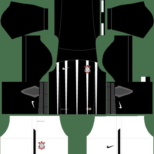 Kit-corinthians-dls17-uniforme-fora-de-casa-17-18