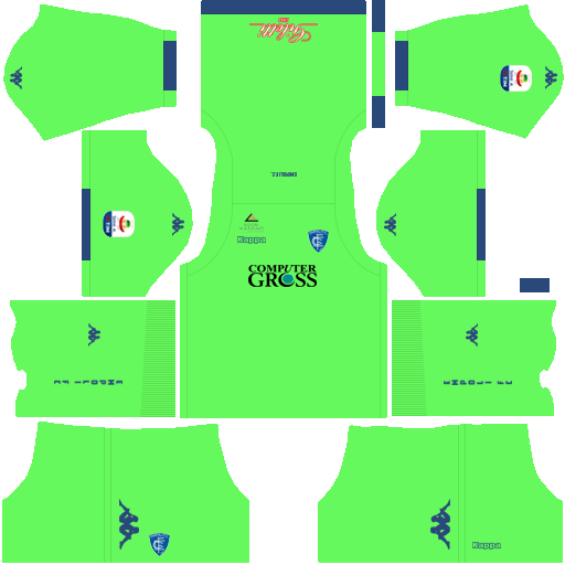 Kit empoli dls home Gk uniforme goleiro casa 18-19