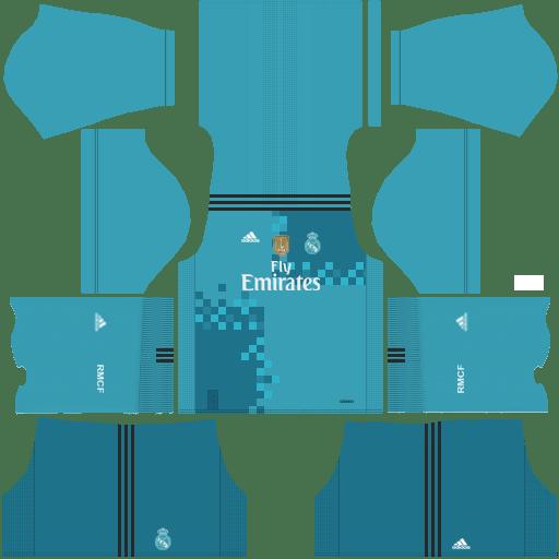 Kit real madrid dls17 thrid - terceiro uniforme