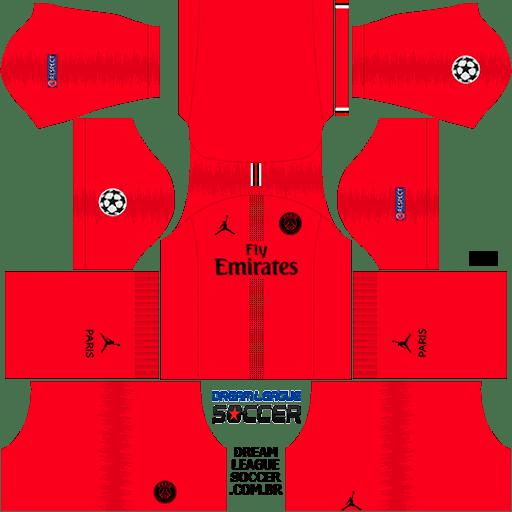 kit-PSG-dls18-away-Gk-liga-dos-campeoes-uniforme-goleiro-fora-de-casa-18-19