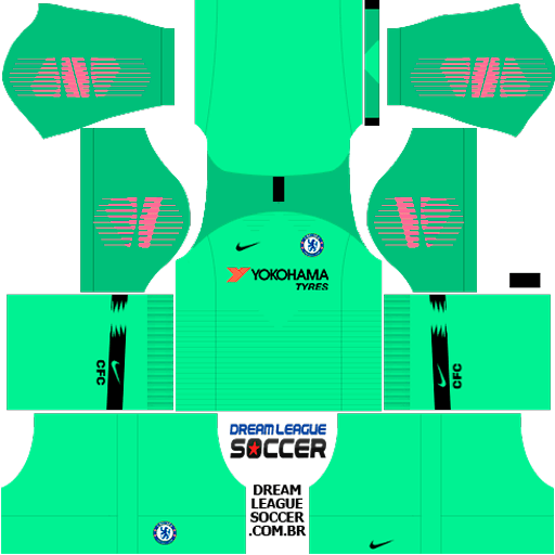 kit-chelsea-dls-home-Gk-uniforme-goleiro-casa-18-19