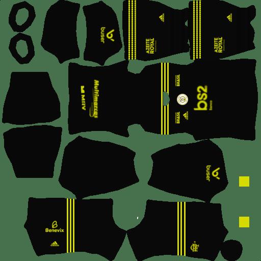 kit flamengo dls20 third terceiro uniforme 19-20