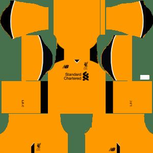 Liverpool Goalkeeper Away Kits DLS 2018