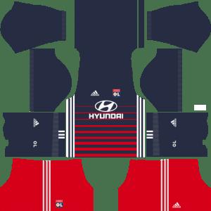 Olympique Lyonnais Away Kits DLS 2018