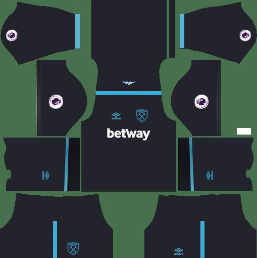 West Ham United Away Kits DLS 2018