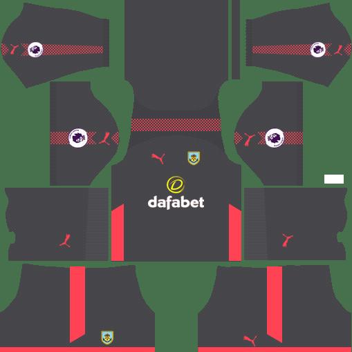 Burnley F.C. Goalkeeper Away Kits DLS 2018